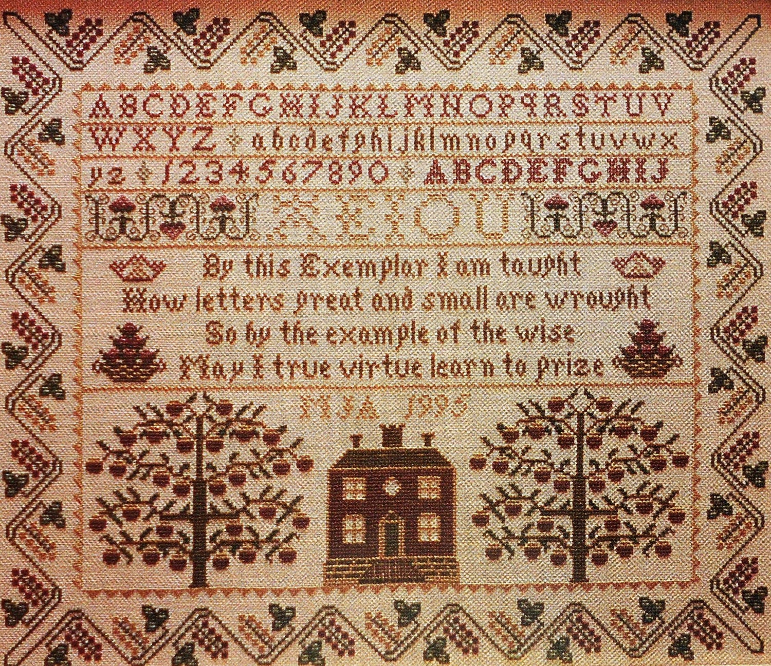 Janie appelbaum true virtue sampler antique by