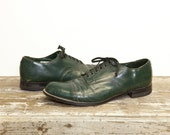 Men's Vintage Stacy Adams Hunter Green Madison Shoe for size 8 1/2 D
