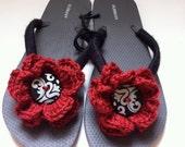 Crochet Adorned Flip Flops