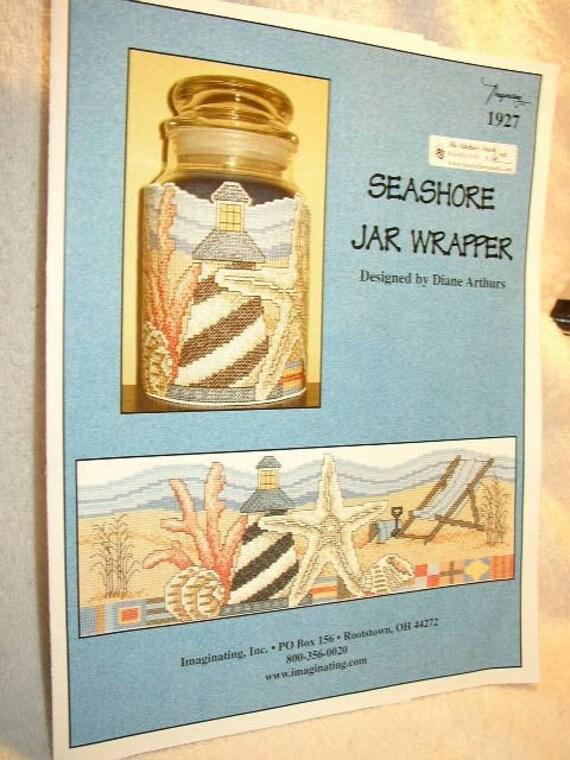 Seashore Jar Wrapper Cross Stitch Pattern