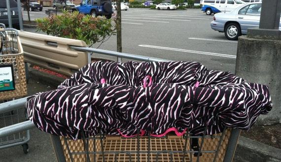 Zebra Shopping Cart Cover (Free Shipping)