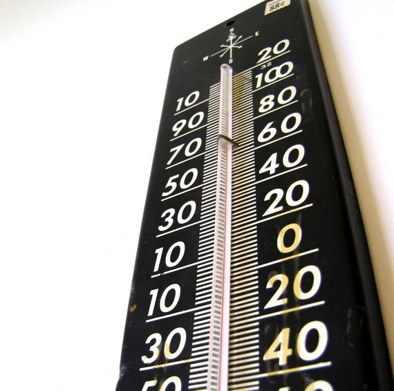 Large Vintage Outdoor Thermometer By Freerangegoat On Etsy
