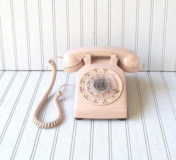 vintage rotary phone - rose