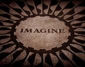 Imagine Fine Art Print in Black & White, John Lennon, Beatles, Believe, New York, NYC, City, Urban