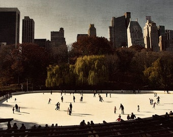 Vintage Wolman Rink New York City, Central Park, NYC, Ice, Snow, Winter, Fall, Cold, Rink, Trump, Urban, Oasis, Fun, Family, Children