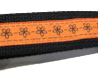 Black and Orange Key Fob Wrislet Keychain