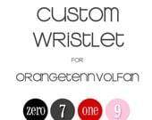 ORANGETENNVOLFAN custom wristlet