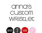 Anna's Custom Wristlet - wristlet clutch with gathers and zipper, credit card pockets, removable strap