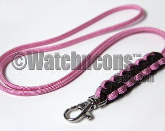 Paracord Lanyard Cobra Braided Snap Hook - for Name ID Badge USB Stick Keys Lifeguard Whistle - Custom Colors
