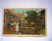 Unused Vintage Linen Postcard of Olverea St, LA-Ca