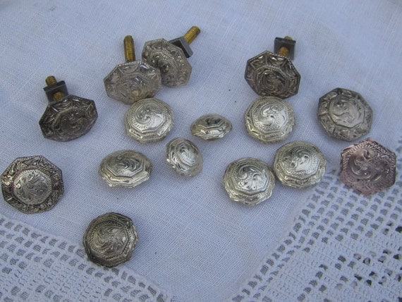 Lot of  15 Misc Saddle Bridle and Boot Conchos