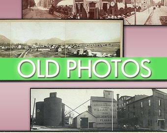 Digital images collection Old Panoramic photographs of cities -Part.2- cards labels decoupage ephemera vintage landscape country / C137
