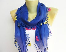 Turkish scarf,Turkish oya scarf,hand crocheted  oya scarf/bandana  /headband/gift for her