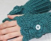 Hand Crocheted Fingerless Gloves mittens made to order
