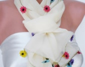 Flowers from Rainbow- Scarf..