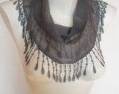 Special Design- Grey cotton scarf
