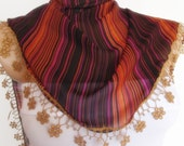 2012 summer fashion chiffon scarf new design orange golden black
