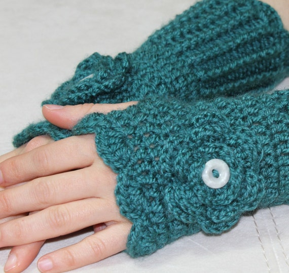 Hand Crocheted Fingerless Gloves mittens made to order