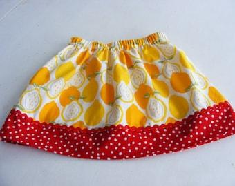 Alexander Henry Lemons skirt (18 mos, 24 mos, 2T, 3T, 4T) One Left