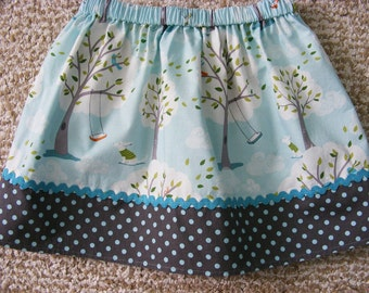 LAST ONE Michael Miller  Windy Day Skirt    (18 mos,  2T, 3T, 4T, 5, 6)