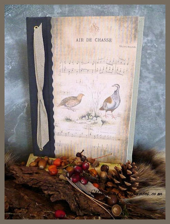 Saint valentin Hunting venery book very nice journal write in French  vintage pictures Partridge