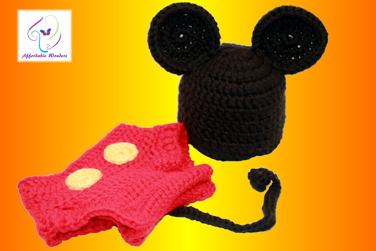 Free Crochet Pattern Minnie Mouse Diaper Cover : Mickey Mouse Inspired Diaper Cover Crochet by ...