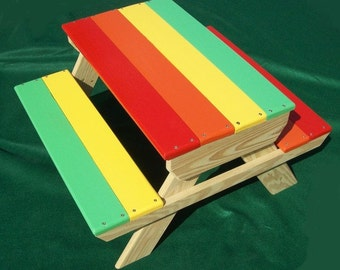 Handmade Children's Picnic Table