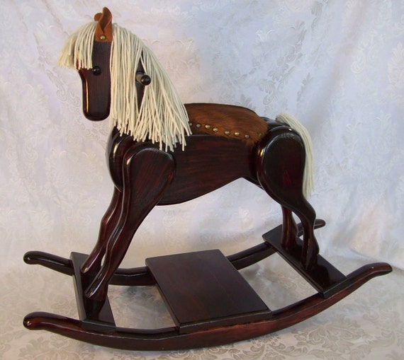 Handcrafted Wooden Rocking Horse Heritage Pony Edition