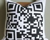 """QR code Pillow Case  - Decorative Pillow Cover - Unique Pillow Case - Perfect gift - 16x16"""" or 18x18"""""""