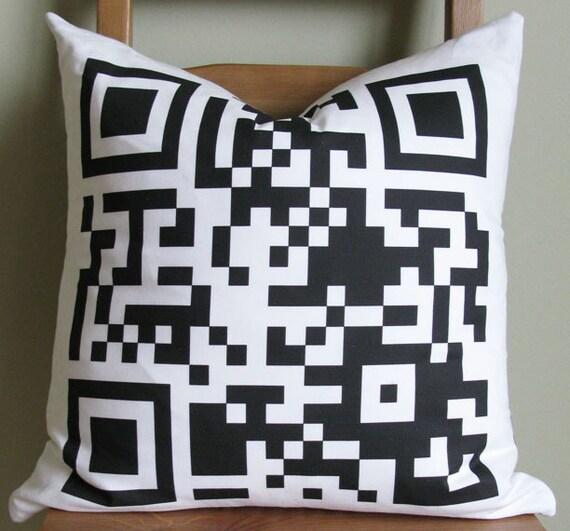 QR code Pillow Case  - Decorative Pillow Cover - Unique Pillow Case - Perfect gift