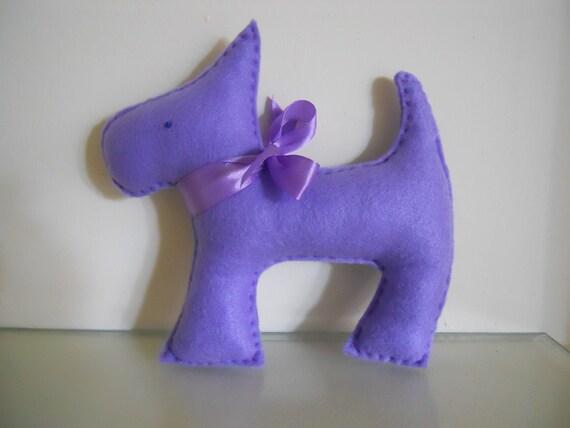 Cute purple dog