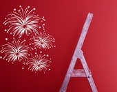 Fireworks, Fourth of July, 4th, Fire Works - Decal, Sticker, Vinyl, Wall, Home, Party, Celebration Decor