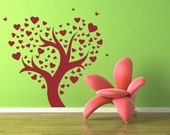 Tree of Hearts and Butterflies - Decal, Sticker, Vinyl, Wall, Home, Girl's Bedroom Decor