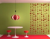 Beaded Curtain, Chic, Hippie, Beads - Decal, Sticker, Vinyl, Wall, Home, Girl's Bedroom Decor