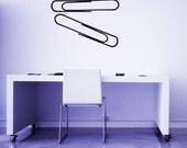 Paper Clips (Set of 2) - Decal, Sticker, Vinyl, Wall, Home, Office, Dorm Decor