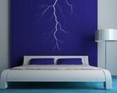 Lightning Bolt, Wall Decal, Storm, Rain, Electricity, Sticker, Vinyl Decal, Wall Decal, Home Decor, School Decor, Unique Decor, Dorm Decor