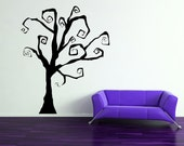 Halloween Spooky Tree or Fabulous Year Round Gothic Tree - Vinyl Wall Art Decal