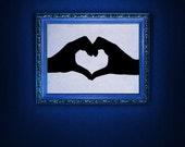 Hands Forming a Heart, Sign Language - Decal, Sticker, Vinyl, Wall, Home, Preschool, Bedroom Decor