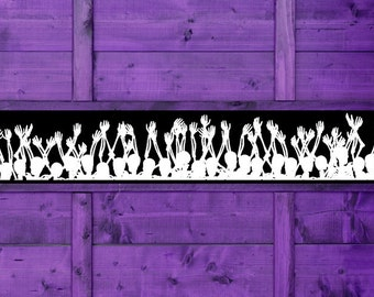 Halloween Decorations, Border Wall Decal, Wallpaper, Paper, Skulls, Skull Decor Skeleton Decal, Vinyl, Sticker, Goth, Gothic,  Home, Holiday