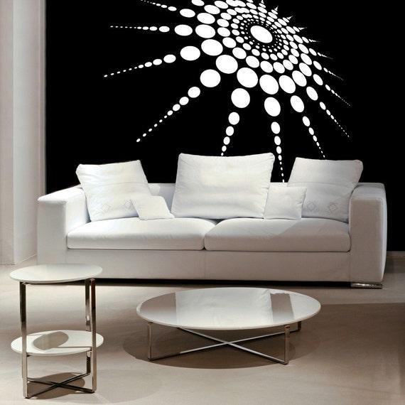 White Dimensional Wall Decor : Medallion d dimensional polka dots retro by