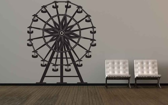 Ferris Wheel Art, Carnival Decor, Ferris Wheel Decor, Vinyl Decal, Kids Wall Art, Home Decor, Kid's Room Decor, Circus Decor, Circus Decal