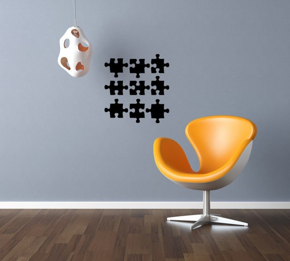 Wall Decor Pieces : Puzzle piece wall art autism awareness by