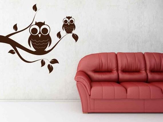 Owl Decal, Owl Decor, Cute Owls, Decorative Owls, Branch Decal, Branch Decor, Branches, Owl Decor, Kids Room Art, Wall Decal, Home Decor