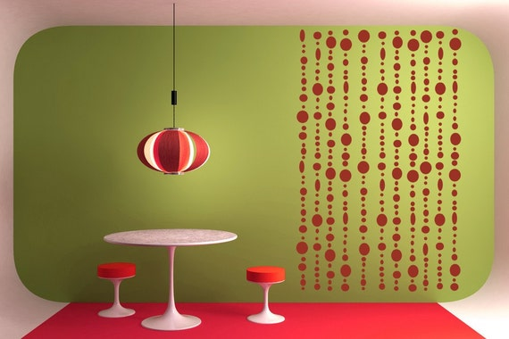 Beaded Curtain, Hippie Decor, Hippie Decal, Beads, Tween Room Decor, Wall Decal, Wall Decor, Home Decor, Girl's Bedroom Decor, Home Art