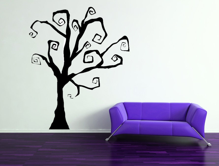 Halloween spooky tree or fabulous year round by for Christmas wall mural plastic
