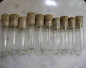 10 medium museum vials with corks
