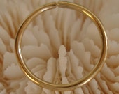 "14K GOLD Hoop (various gauges / 9.5mm-3/8"" od)"