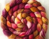 bfl silk tencel roving KARMA handpainted 5.2oz