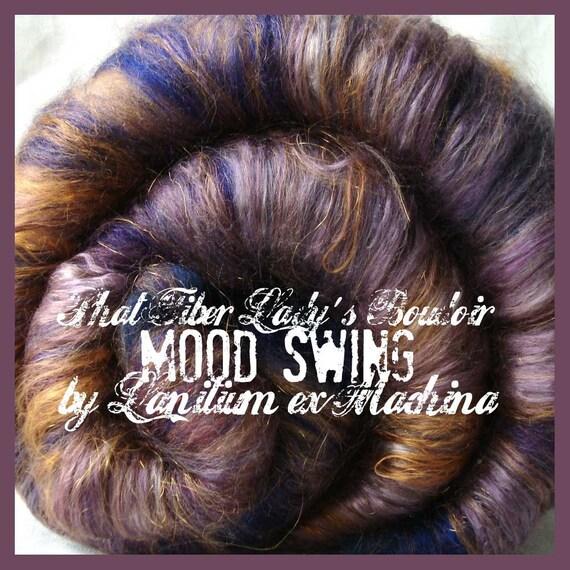 PhatFiber spinning batt MOOD SWING Lady's Boudoir - 4.5oz Glam Art Batt