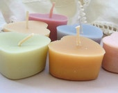 Mini Heart Candles in Pastel Rainbow